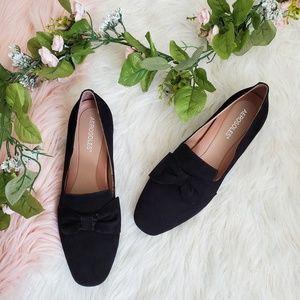 Aerosoles Getaway Black Suede Loafers